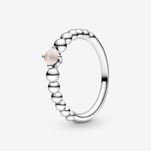 🔥PANDORA Misty Rose Beaded Ring
